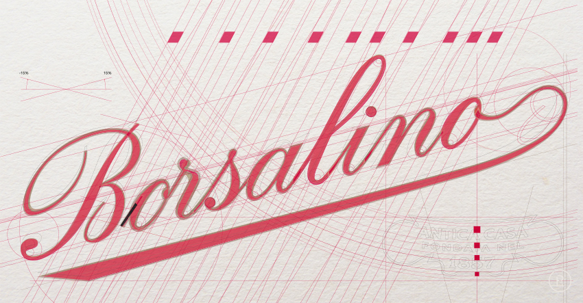 BORSALINO LOGO CONSTRUCTION