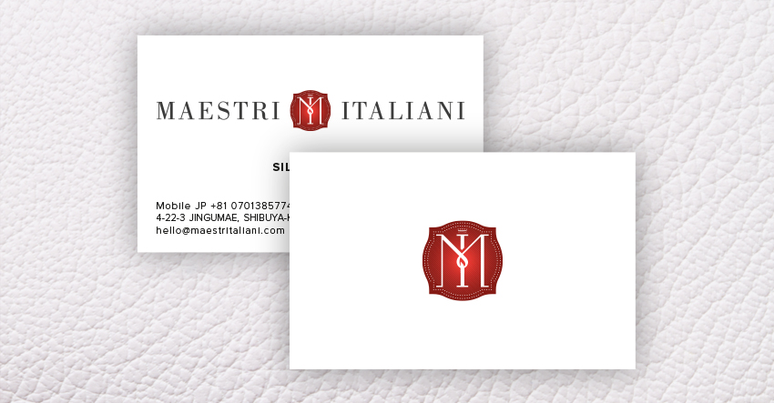 MAESTRI ITALIANI BUSINESS CARDS