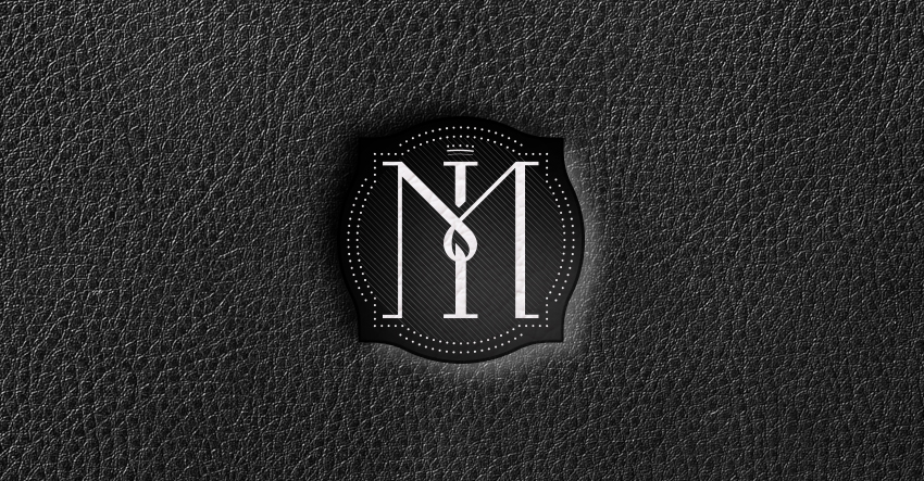 MAESTRI ITALIANI LOGO BLACK LEATHER