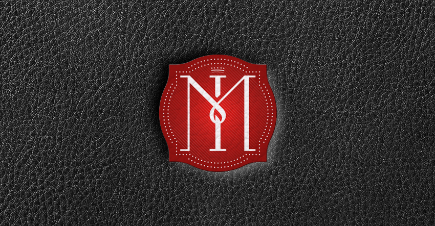 MAESTRI ITALIANI LOGO RED LEATHER