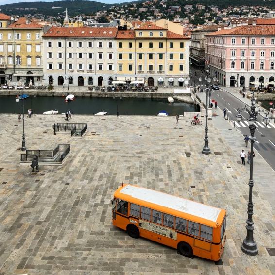 The view from James Joyce's flat when he arrived in Trieste