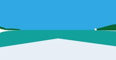 La nuova piattaforma mobile, Muggia, il Castello di Miramar, le due navi più riconoscibili dagli abitanti: quelle della MSC e della UN.RO.RO. per le loro linee iconiche.