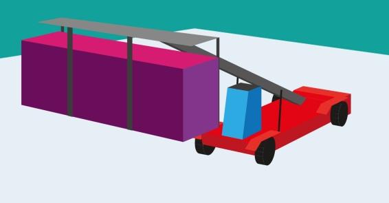 Il muletto che porta i container: il giocattolo che tutti vorremmo poter guidare.